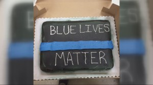 Georgia Walmart bakery refuses to make 'Blue Lives Matter' cake, citing racist connotations