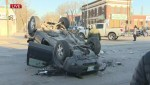 Vehicle rollover closes parts of Main Street during morning commute