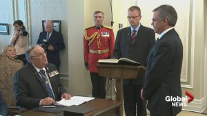 Jim Prentice sworn in as Alberta's new premier