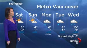 BC Evening Weather Forecast: Jan 13