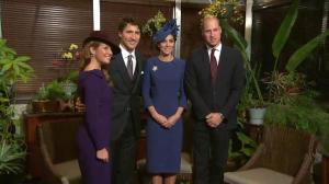 Prince William and Kate meet with Justin Trudeau and Sophie Grégoire Trudeau