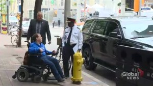 Toronto police chief spotted parked in front of a fire hydrant in downtown Toronto