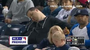 Sleeping Yankees fan sues TV announcers