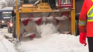 Montreal Snow-removal operations begin Friday evening