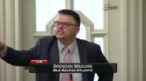 Liberal MLA Brendan Maguire has an outburst in the Nova Scotia Legislature