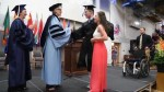 5 years after being paralyzed in football accident, teen walks at high school graduation
