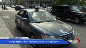 Quebec judge rejects taxi industry's request for Uber injunction