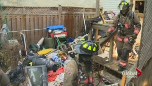 """Hoarder"" home fire tough to extinguish for fire crews"