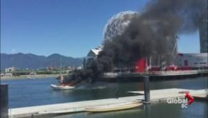 False Creek Boat Fire