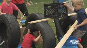 Calgary 'junk' playground promotes creative, risk-taking play