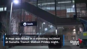 Calgary police search for suspect in fatal stabbing at Sunalta CTrain Station