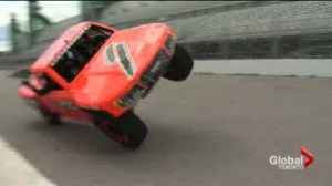 Race Trucks take flight at the Honda Indy Toronto