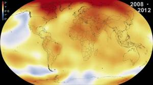 Global temperature averages show warming across the globe