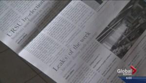"""U of R student newspaper highlights """"Leak of the Week"""""""