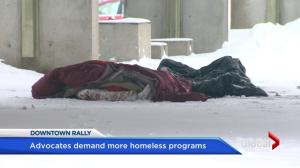 Montreal rally for the homeless