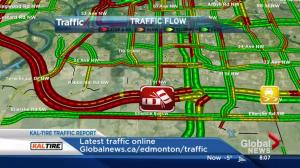 Light snowfall causes havoc on Edmonton streets