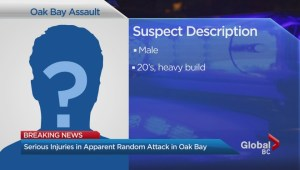 Random attack in Oak Bay