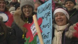 Quebec daycares stage province-wide protests