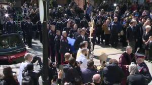 Rob Ford's casket arrives at St. James Cathedral