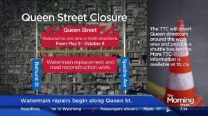 Major delays on Queen St. as watermain repairs begin