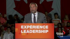 Mulcair's message in Edmonton