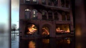RAW: Grand Forks gutted by flood and fire