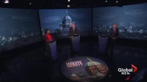 B.C. party leaders square off in feisty election debate
