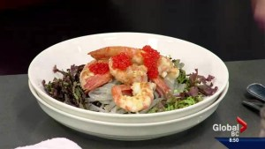 Saturday Chefs : BC Spot Prawns with Brown Rice Vermicelli and Nuoc Cham