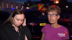 Witnesses say London apartment building had a history of fires