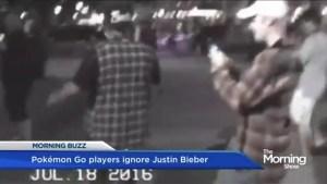 Pokemon GO players ignore Justin Bieber