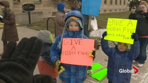No high fives from Peterborough crossing guards