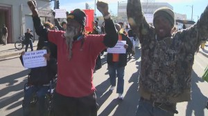 Protests against fatal police shooting of LA homeless man