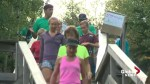 Edmontonians climb stairs to promote healthy, active lifestyle