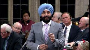 Navdeep Bains says investment in Bombardier is to strengthen the aerospace sector