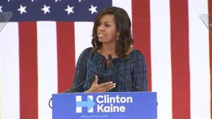 Michelle Obama says America 'needs an adult' in the White House