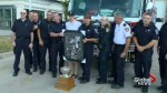 Hockey star thanks Vaughan firefighters for saving memorabilia
