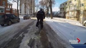 Police using fat bikes