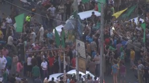 Celebrations in Gaza as ceasefire announced