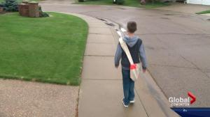 13-year-old newspaper carrier gets first pink slip