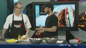 In the Global Edmonton kitchen with Nate Box