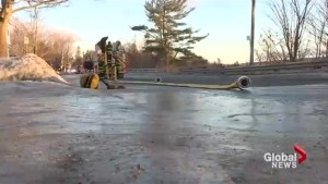 Fredericton fire department hoses damage by motorists during fire