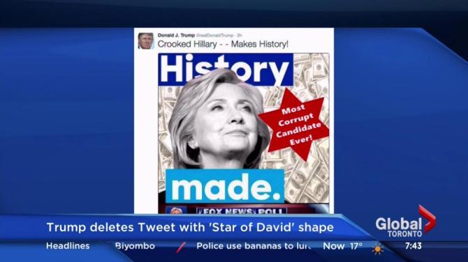 movies donald trump deletes tweet depicting star david hillary