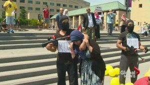 Hundreds gather to protest imprisonment of Egyptian-Canadians