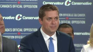Conservative leader Andrew Scheer continues to take aim at Liberals over Omar Khadr payout