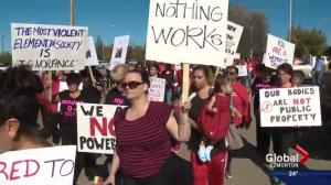 Protesters call for Alberta First Nation chief to step down in wake of sexual assault charges