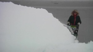 North Dakota hit with a one-foot of snow