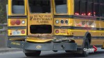 7 children sent to hospital after school bus, tanker collide