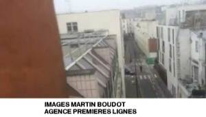 Paris gun shots caught on camera