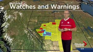 Edmonton weather: watches and warnings