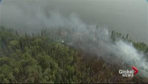Forest fires rage in BC, Saskatchewan